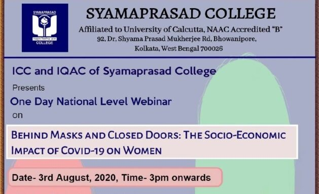 One Day National Webinar on The Socio-Economic Impact of Covid-19